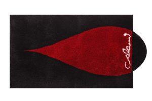 Schnäppchen Colani Badteppich Colani 38 rot schwarz