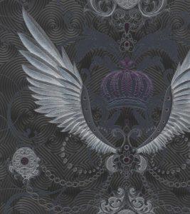 Bild Glööckler Imperial Tapete 54454 – Adlerschwingen (Ruß)
