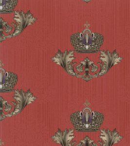 Bild Glööckler Imperial Tapete 54856 – Damastornament (Kardinalrot)