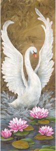 Bild Glööckler Imperial Wandpanel Schwan weiß 58501