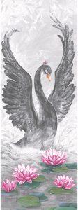 Bild Glööckler Imperial schwarzer Schwan Wandpanel 58505