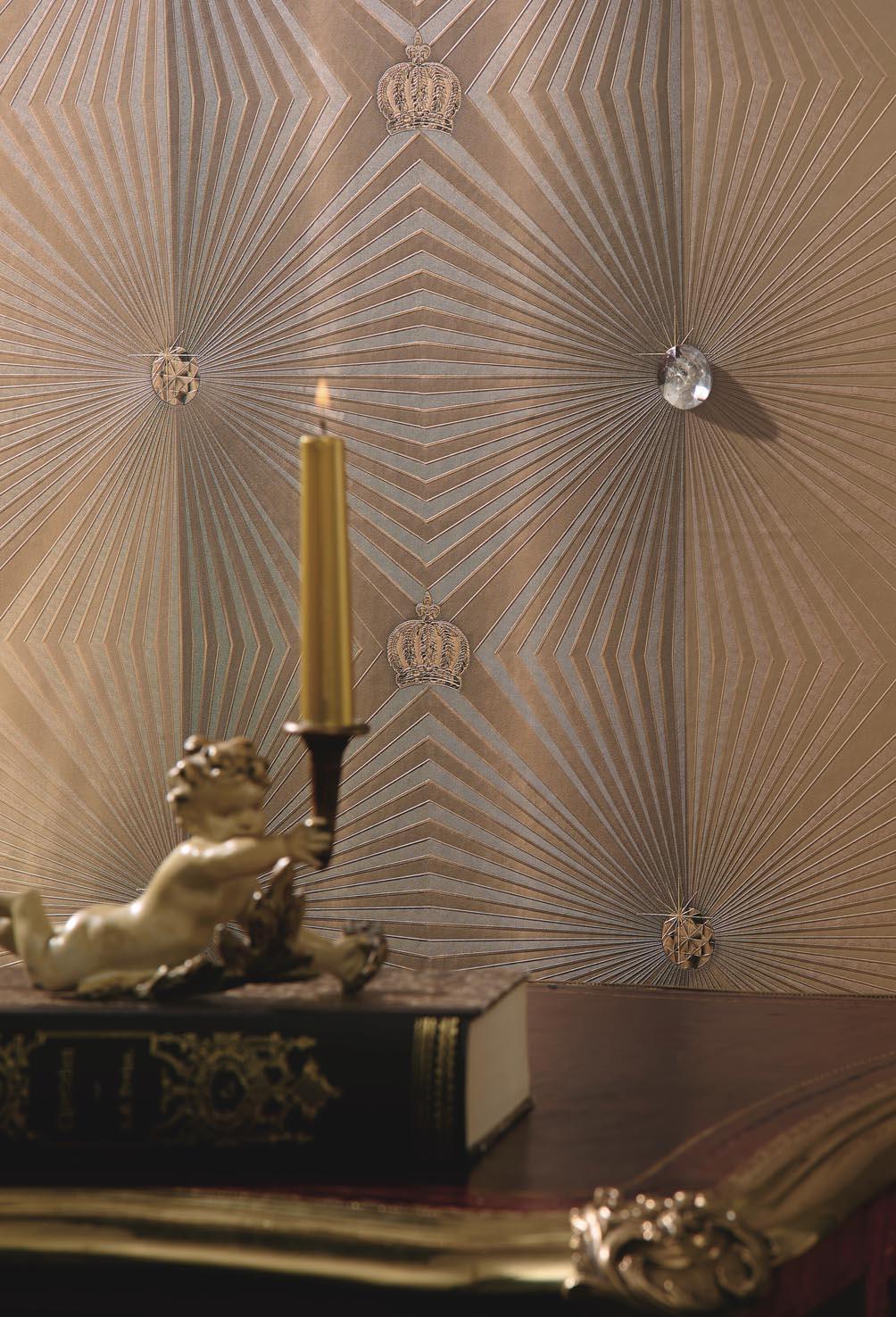 Bild Glööckler Imperial Tapete 54406 mit  Strasstein  zum Kleben in groß 225