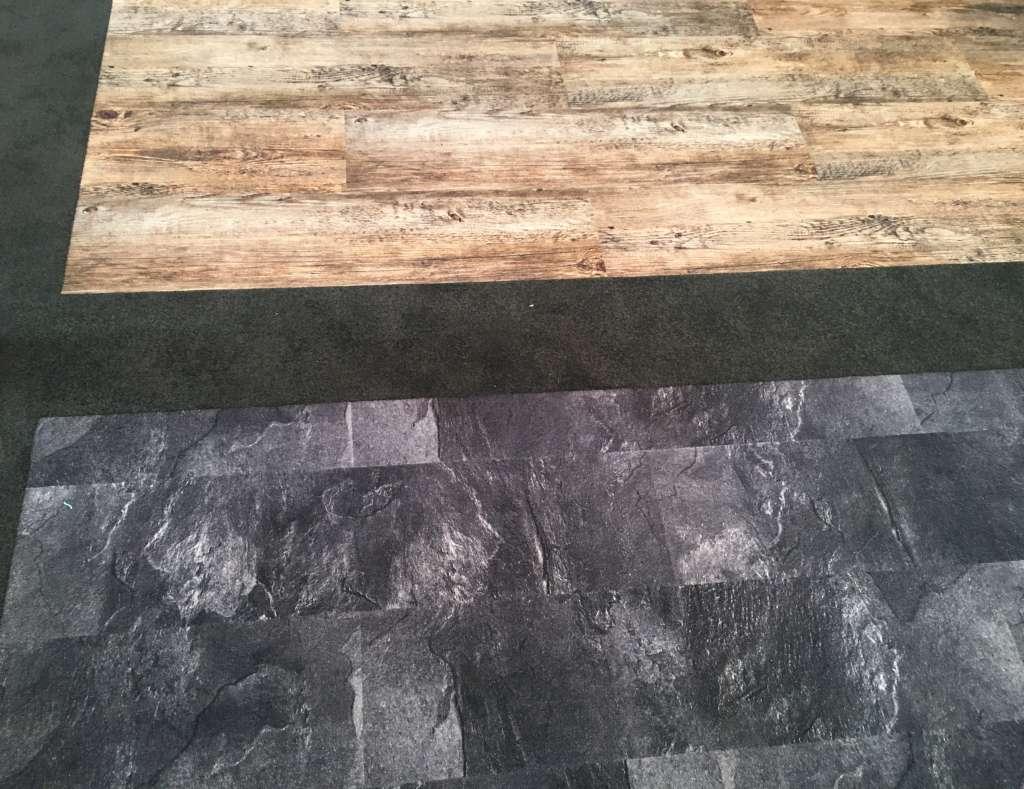 Teppichplanken in Holz- und Steinoptik