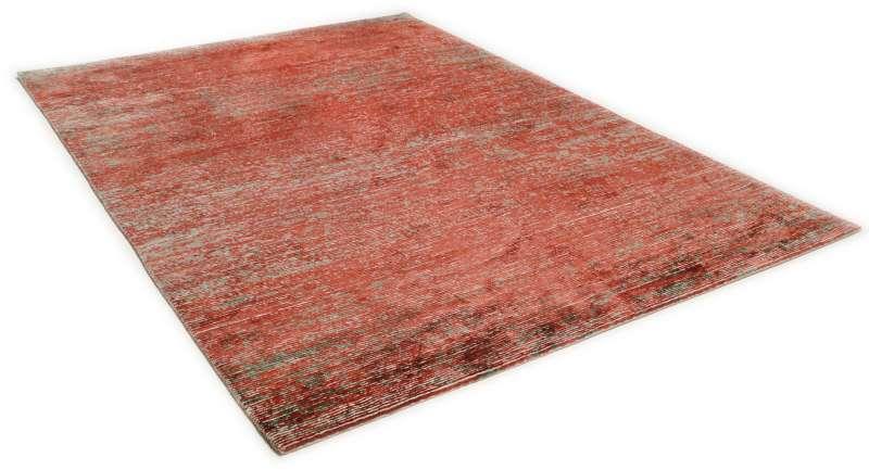 Bild Teppich Theko Rib Eye Silk rot