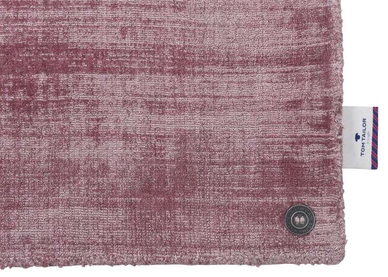 Bild Teppichtrends 2019 Teppich Tom tailor Shine uni rose