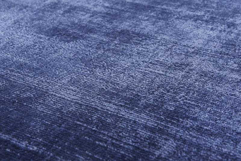 Bild Teppichtrends 2019 Teppich Tom tailor Shine uni blau
