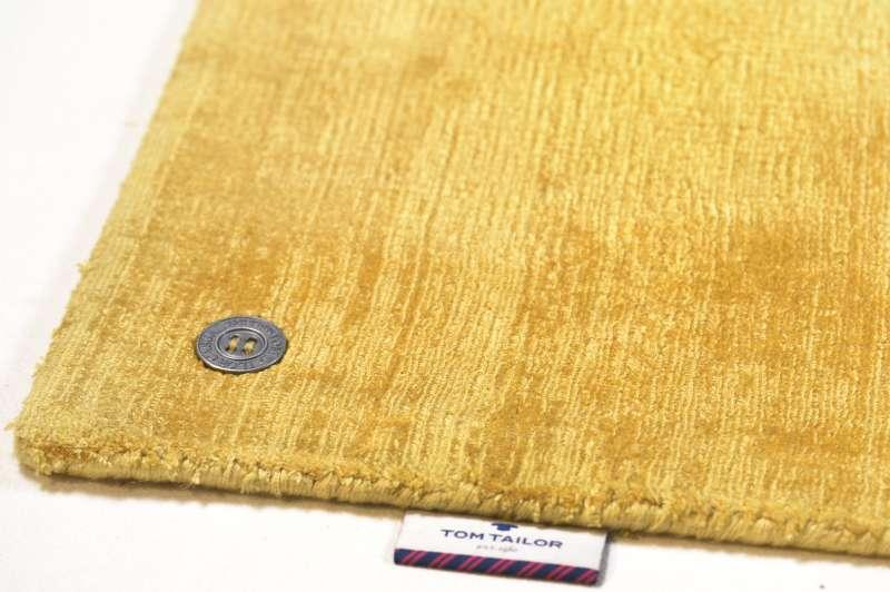 Bild Teppichtrends 2019 Teppich Tom tailor Shine uni gelb