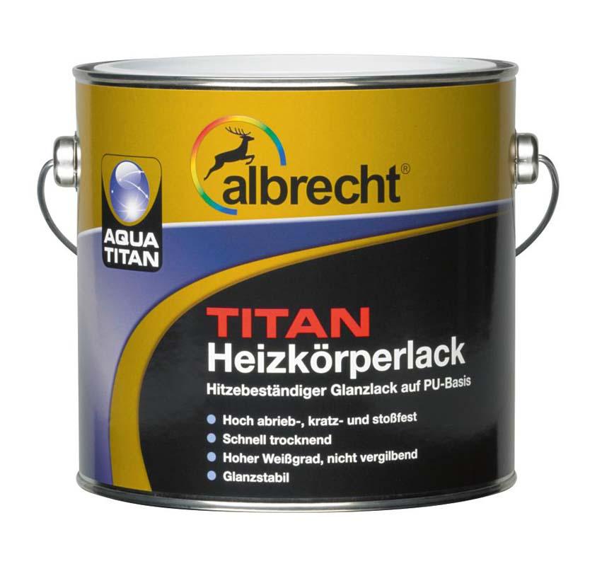 Aqua Titan Heizkörperlack (Weiß; 2.5 Liter)