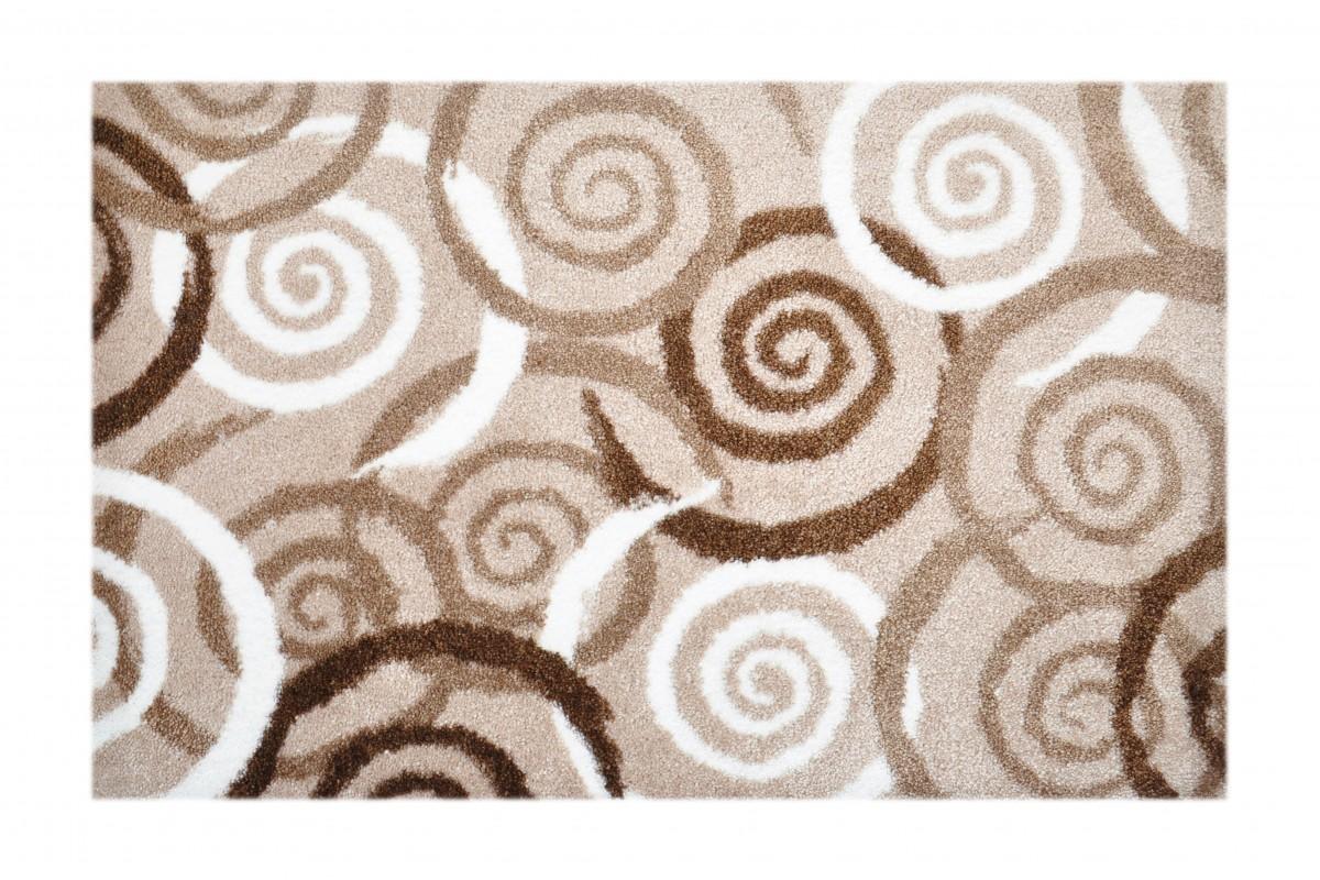 Schmutzfangteppich, LifeStyle-Mat: Spiralen (Beige; 67 x 110 cm)