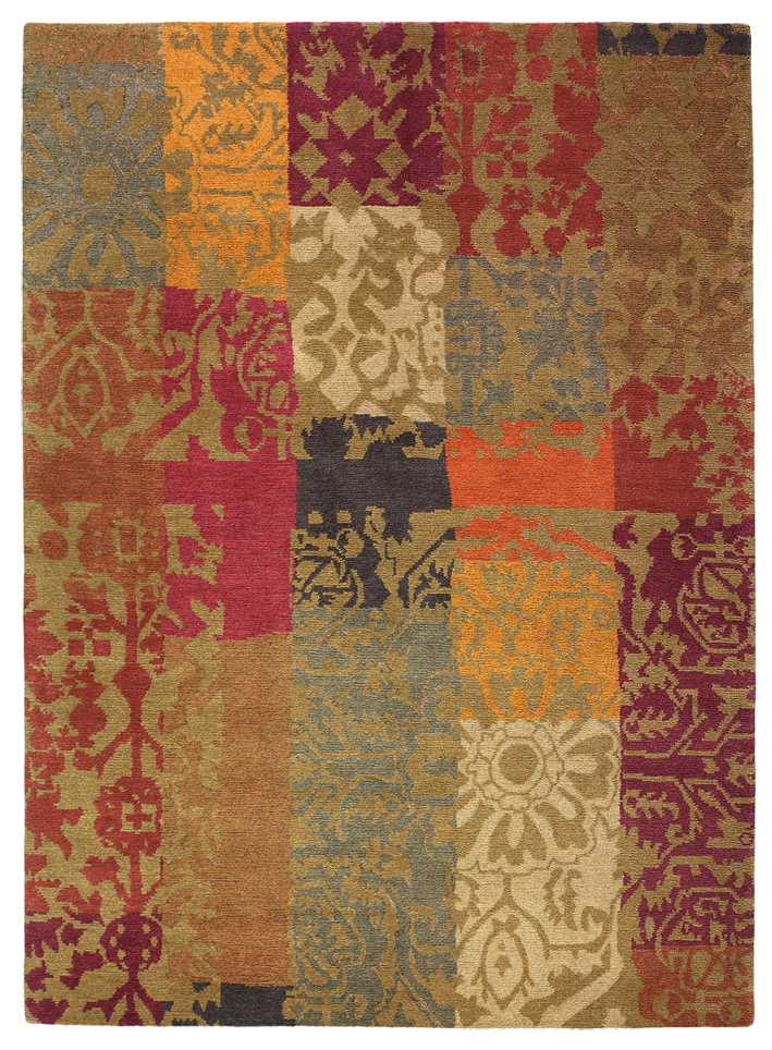 Teppich Kodari Patchwork - Orange
