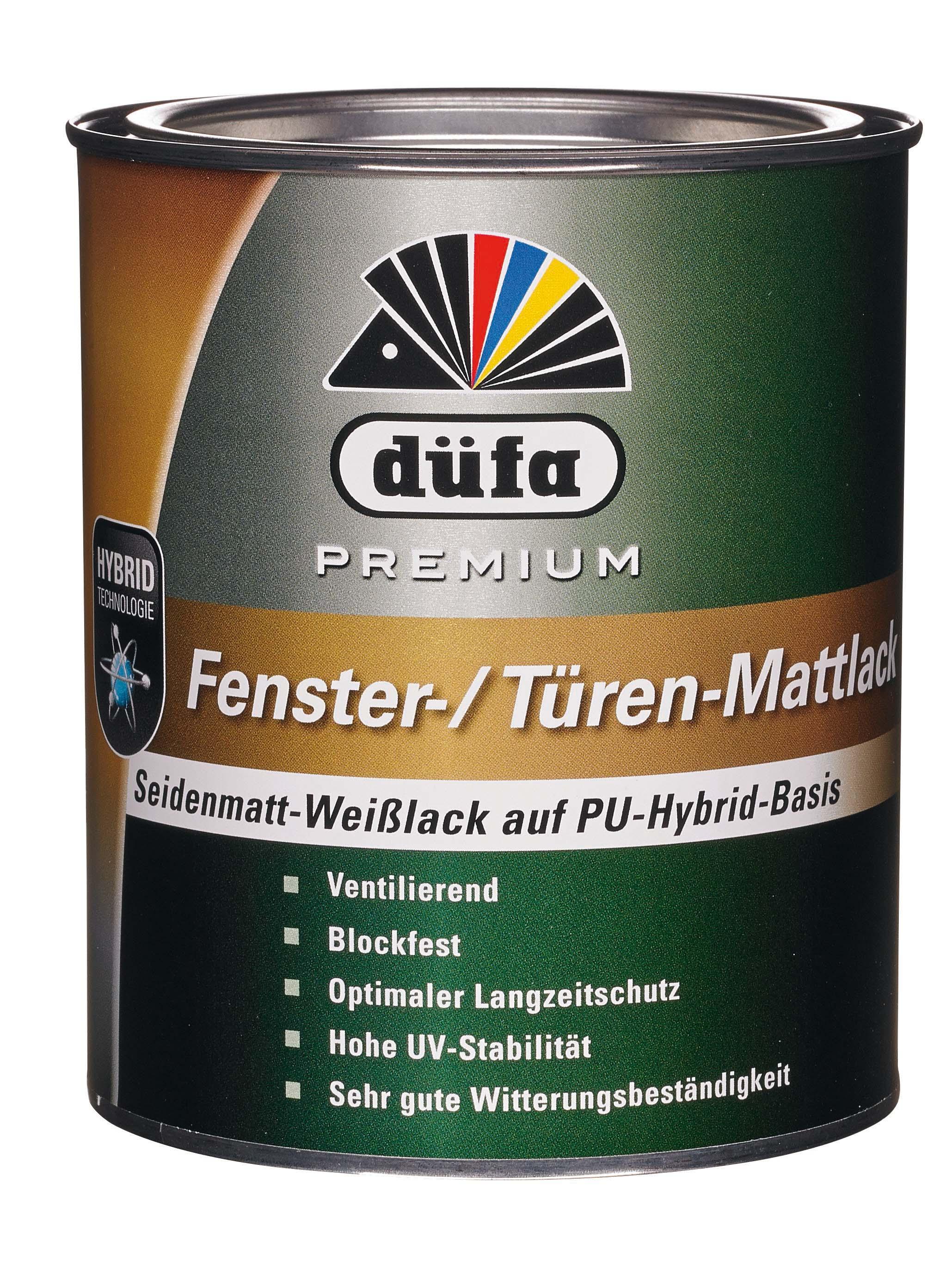 Premium Fenster- & Türlack seidenmatt (Weiß; 2.5 Liter)