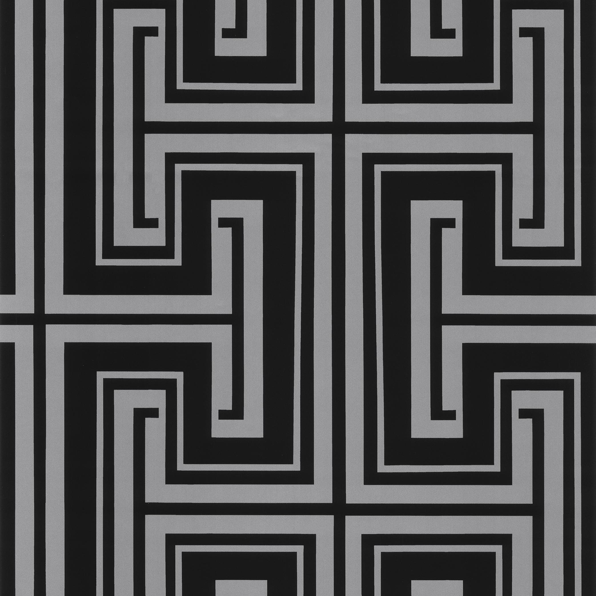 Shades - Retro Tapete - TU27126 (Schwarz/Silber)