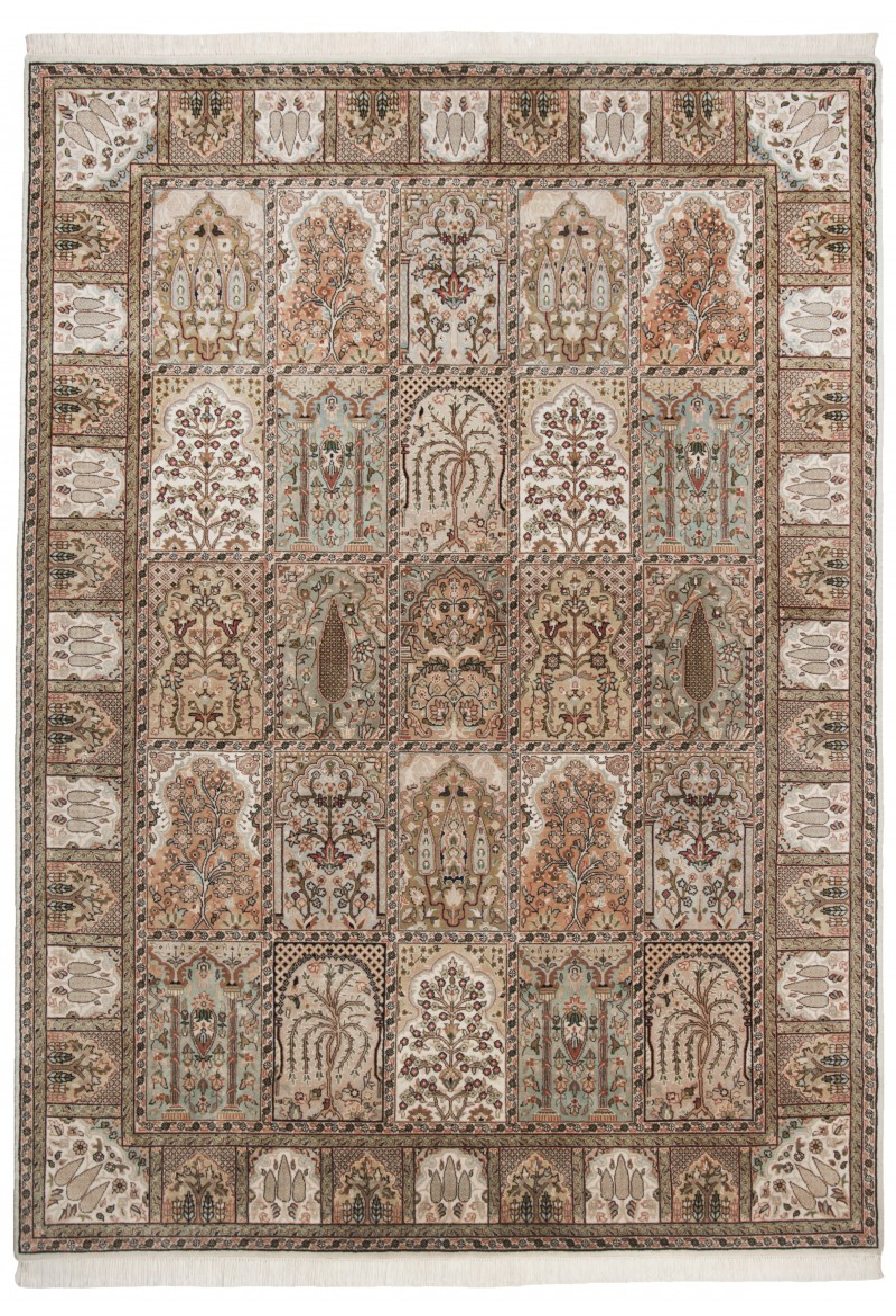 Teppich Sirsa Silk touch Bakhtiyari K (Creme; 200 x 300 cm)