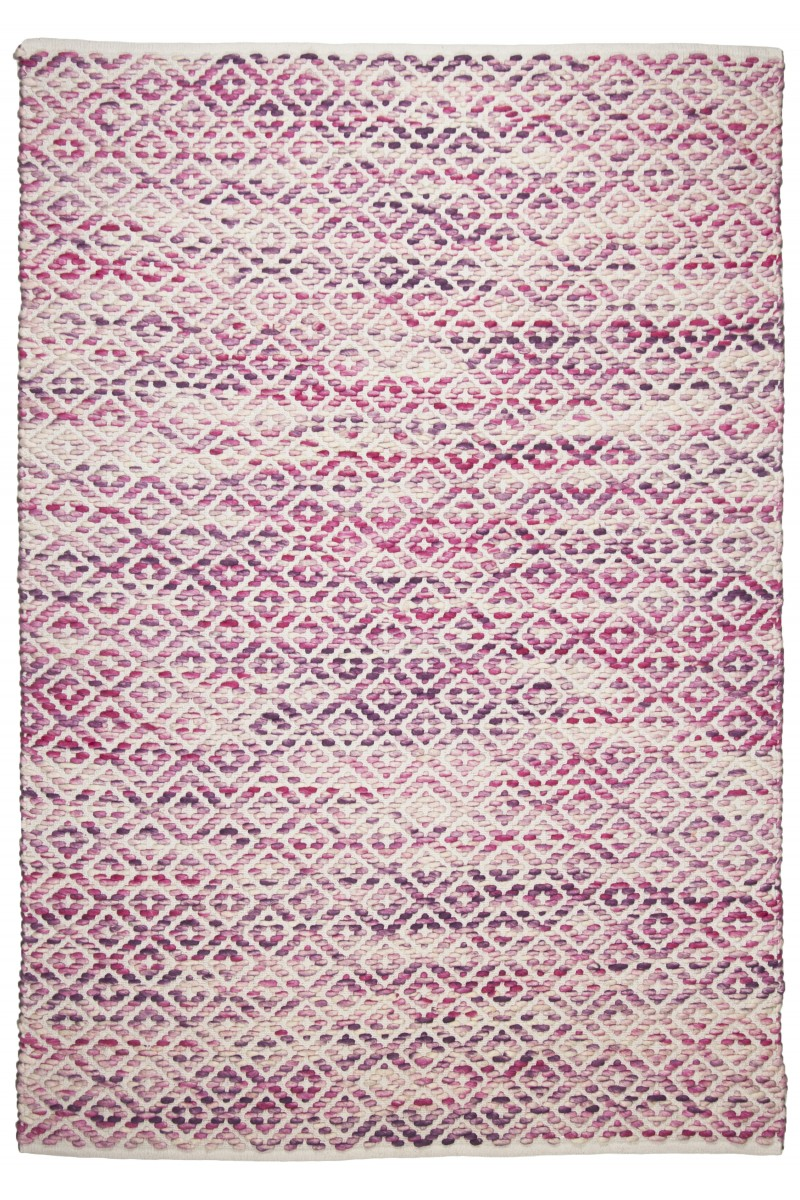 Teppich Smooth Comfort - Diamond (Rosa; 85 x 155 cm)