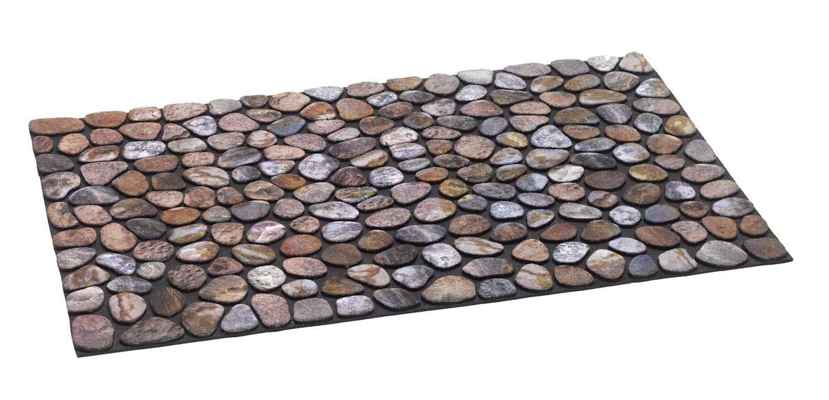 Gummiflockmatte Pebble Beach (Braun; 40 x 60 cm)