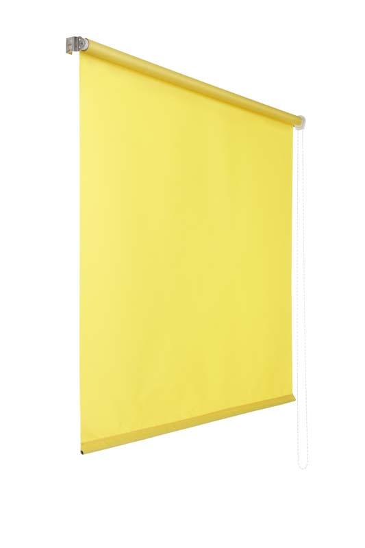 Lichtdurchlaessiges Seitenzugrollo (Gelb; 240 x 100 cm)