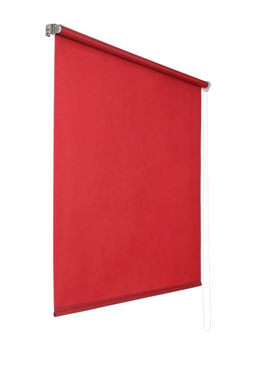 Lichtdurchlaessiges Seitenzugrollo (Rot; 240 x 100 cm)