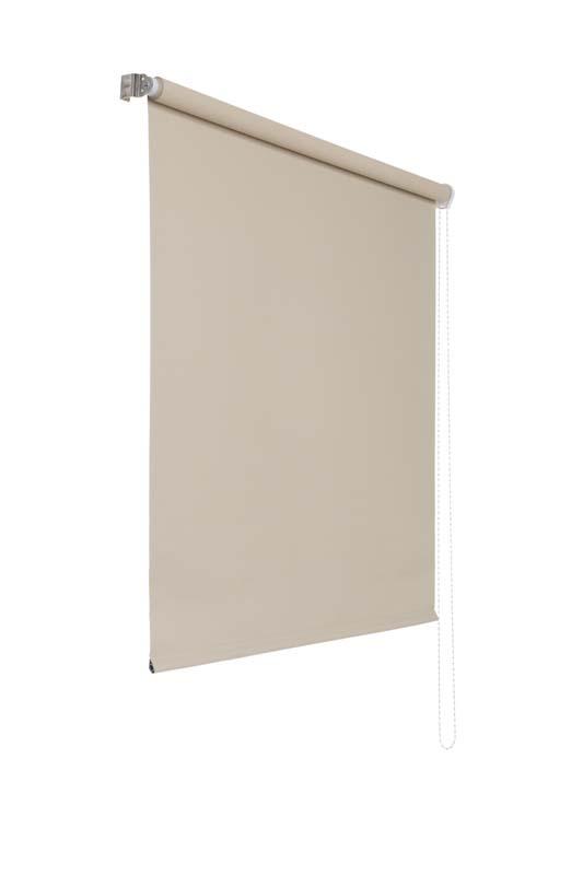 Lichtundurchlaessiges Seitenzugrollo (Creme; 240 x 100 cm)