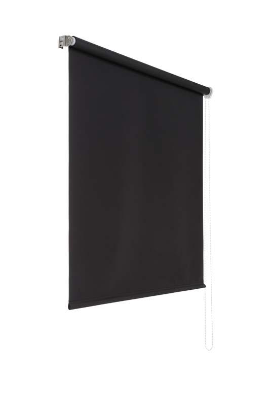 Lichtundurchlaessiges Seitenzugrollo (Schwarz; 180 x 160 cm)