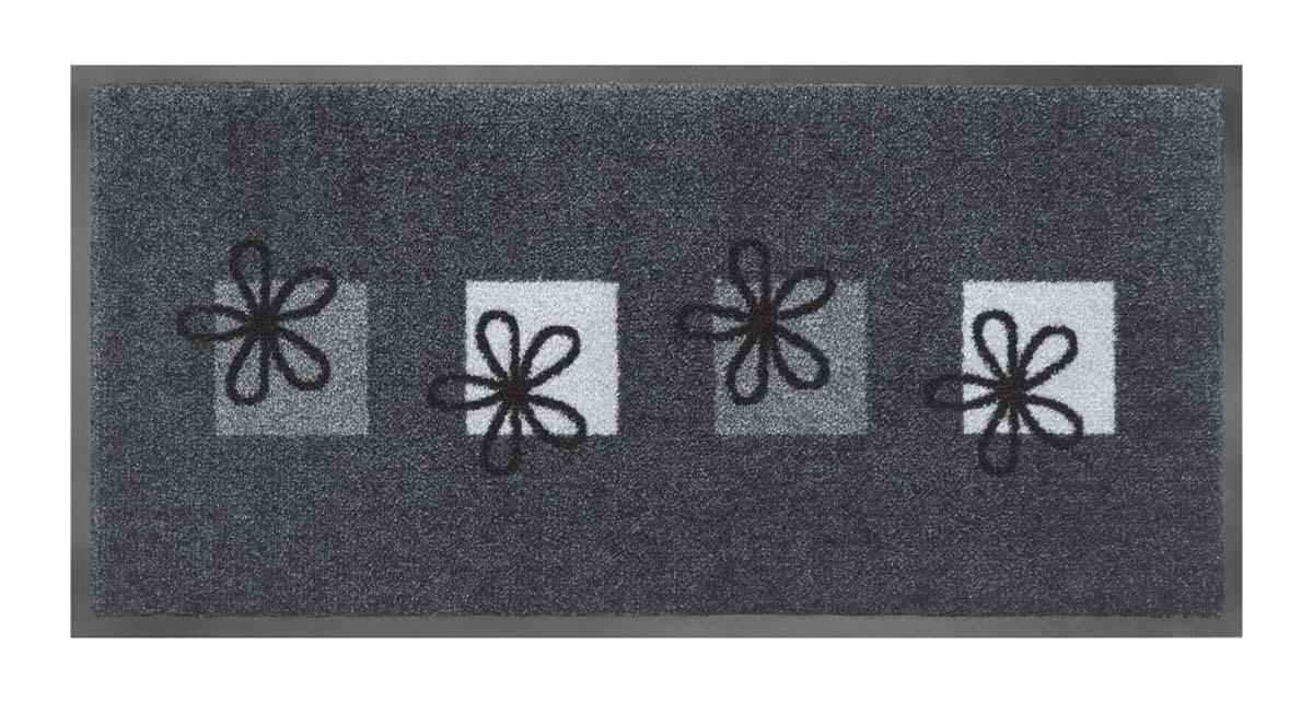 Schmutzfangmatte Blumen (Grau)