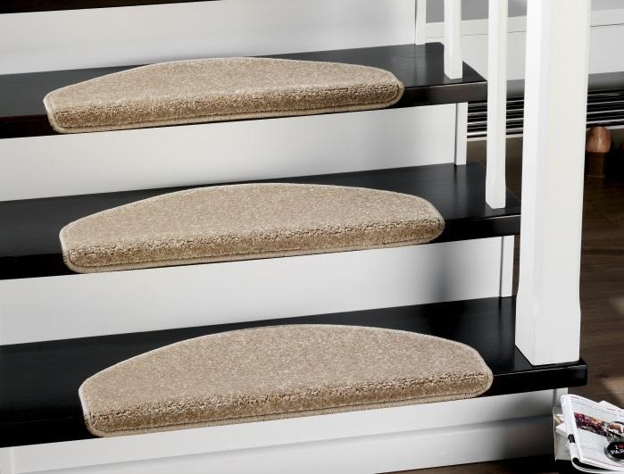Stufenmatten - 3er Set - Casa 3937 (Beige; halbrund)