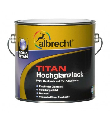 Aqua Titan Hochglanzlack - Weiß