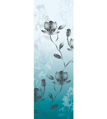 AP Panel - Mystic blossoms blue