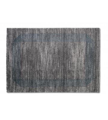 ASTRA Hochflorteppich - Savona Bordüre - Grau/Blau