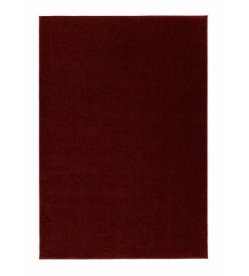 Kurzflor Teppich Samoa - Uni Design - Rot