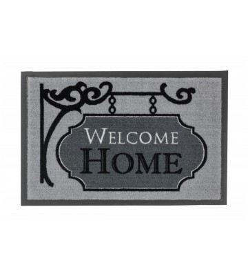 Sauberlaufmatte Homelike Welcome Home - Grau - 39x58cm