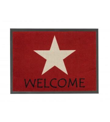 Schmutzfangmatte Homelike Stern Des.054 (Rot)
