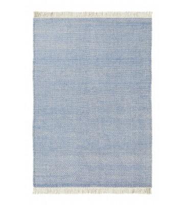 Designer Flachgewebe Teppich Atelier Craft - Blau
