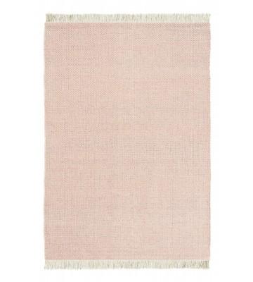 Designer Flachgewebe Teppich Atelier Craft - Rosa