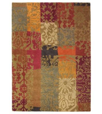 Designer Vintageteppich Yara Patchwork 194003 - Orange