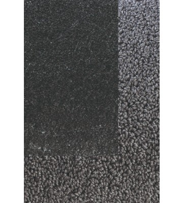 Frisee Teppich mit Schlingenbordüre Twinset Skyline - Anthrazit