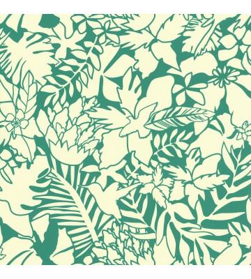 Caselio - Florale Tapete - SMILE ALOHA SMIL69826711 (Blaugrün)