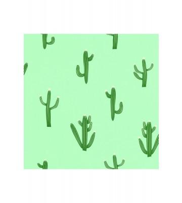 Caselio - Motivtapete Kaktus - SMILE FREE HUGS SMIL69757001 (Mintgrün)