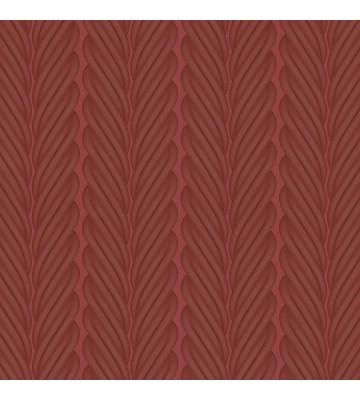 Colani Legend Tapete - Zopf Streifen (Burgunderrot)