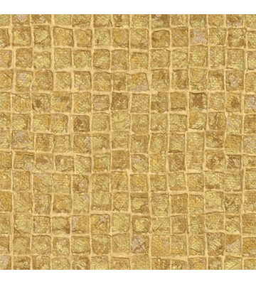 design id elegante Vliestapete Alpha AL1001-5 - Mosaikoptik (Gold)