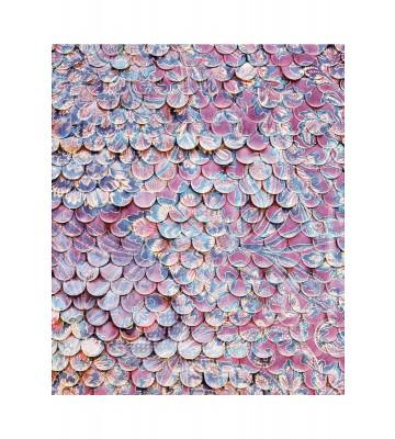 Eijffinger Fototapete Sundari 375210 - Scallop Wall - Lila