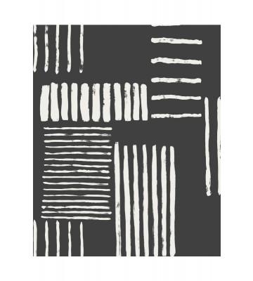 Eijffinger Mustertapete Stripes+ 377133 - Pinselstriche (Schwarz)