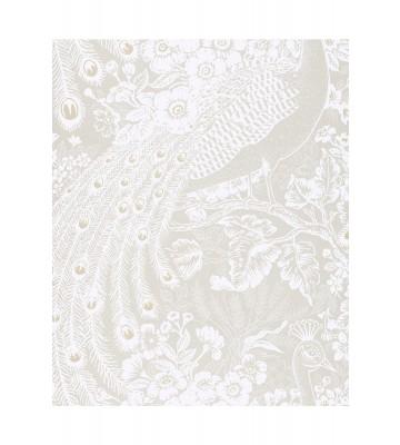 Eijffinger Reflect Vliestapete 378003 - Pfau mit Blumen (Creme/Weiß)