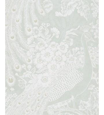 Eijffinger Reflect Vliestapete 378008 - Pfau mit Blumen (Weiß)