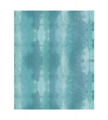 Eijffinger Streifentapete Stripes+ 377083 - Textiloptik (Türkis)