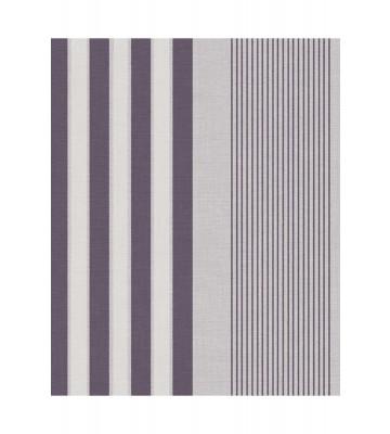 Eijffinger Streifentapete Stripes+ 377102 - Leinenoptik (Grau/Lila)