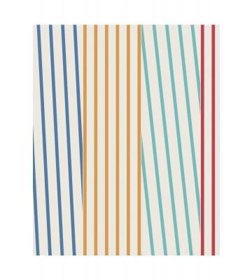 Eijffinger Streifentapete Stripes+ 377122 (Weiß/Bunt)