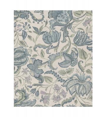Eijffinger Sundari Vliestapete 375100 - Exotische Blumen (Weiß/Blau)