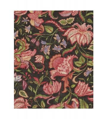 Eijffinger Sundari Vliestapete 375104 - Exotische Blumen (Schwarz)