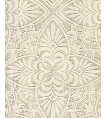 Eijffinger Sundari Vliestapete 375130 - Blumen Ornament (Creme)
