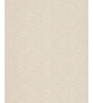 Eijffinger Sundari Vliestapete 375160 - indisches Ornament (Grau/Weiß)